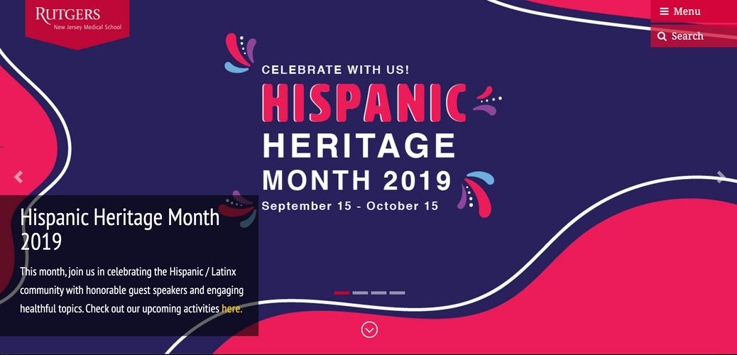 Hispanic Heritage Homepage Banner