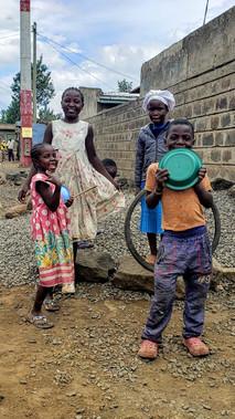Kids outside Squatters Hill Preschool