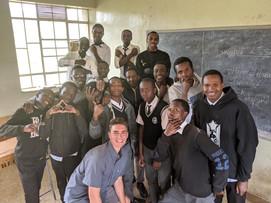 Volunteer with class