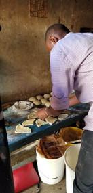 Making mandazi as a treat