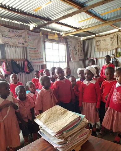 Slum preschool classroom