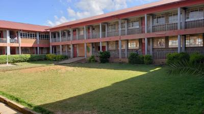 School interior courtyard