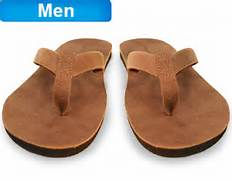 Men's flip flops with built in orthotics!