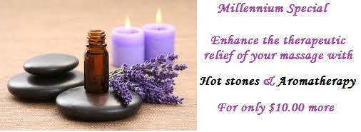 hot stone massage, aromatherapy massage