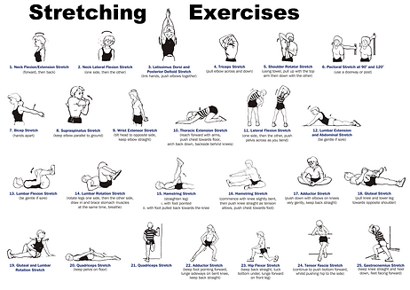 stretching keeps your body flexable!