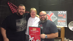 Rev. Kim Hurst on The Big Breakfast with Oz and Jay