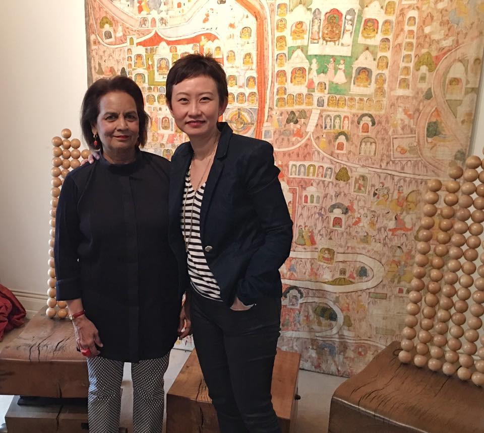 Lekha Poddar with Patricia Chen