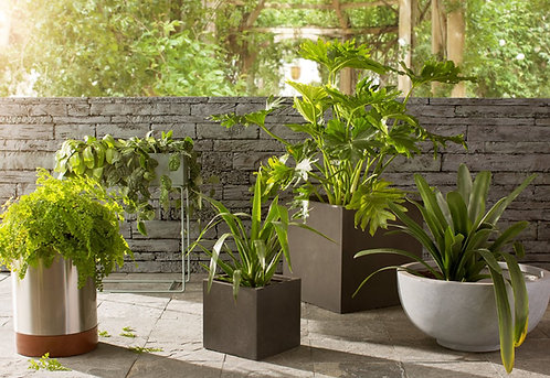 Naturaleza Low Square Slate Stone Planter