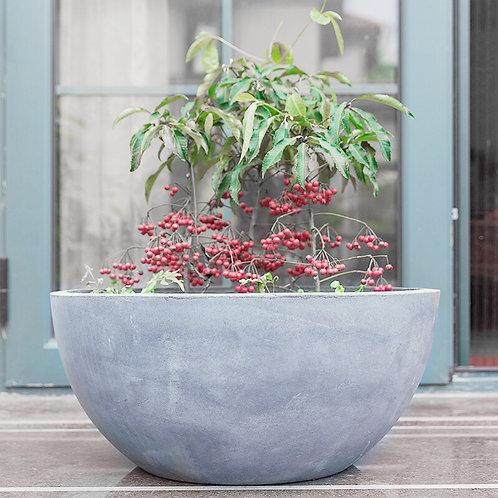 Naturaleza Concrete Round Low Pot Planter