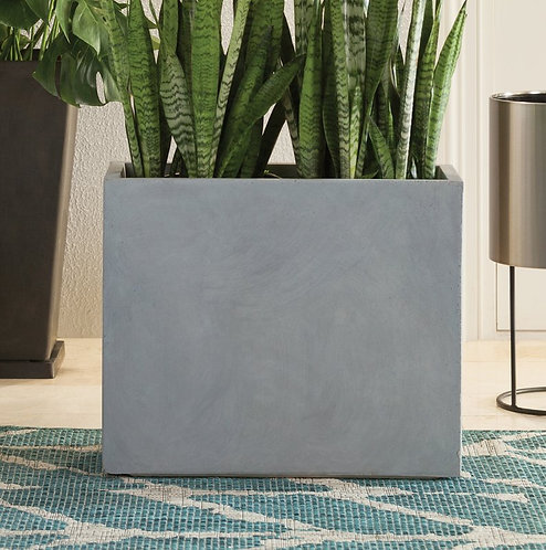 Naturaleza Rectangular Concrete Planter Box