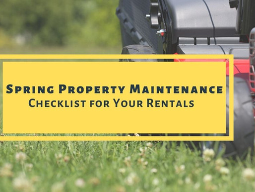 Annual Property Maintenance To-Dos