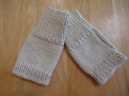Fingerless Gloves, Ivory