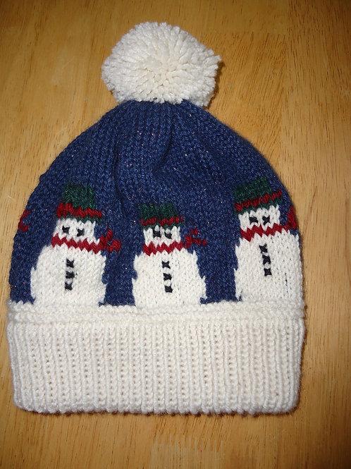 Snowman Hat, Children's (Blue or Pink)