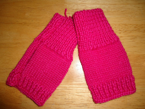 Fingerless Gloves, Fuchsia