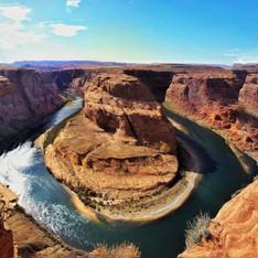 The Horseshoebend At Grand Canyon USA