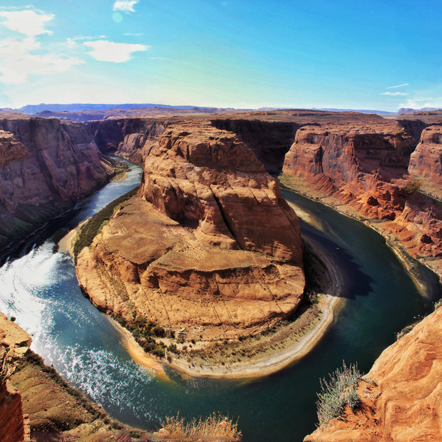 The Horseshoebend At Grand Canyon USA