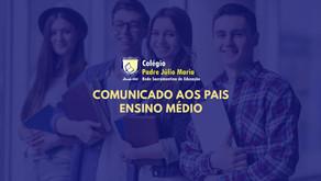 Comunicado do CPJM aos pais