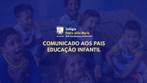 Comunicado aos Pais Educação Infantil