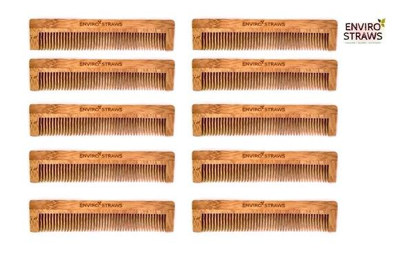 10 Bamboo Combs