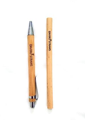 Bamboo Pen & Straw Set