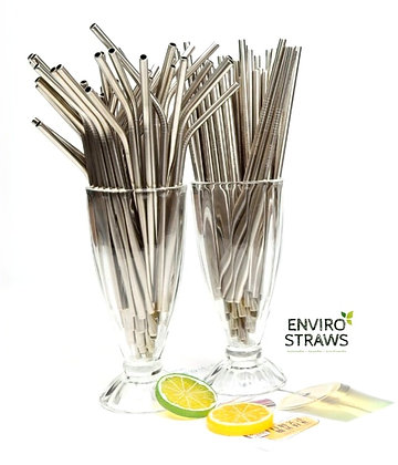 50 Stainless Steel Straws