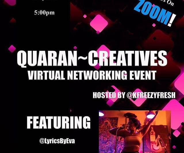 TOMORROW 5-7PM est. #quarancreatives #zo