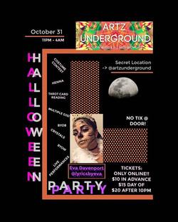 Artz Underground Halloween