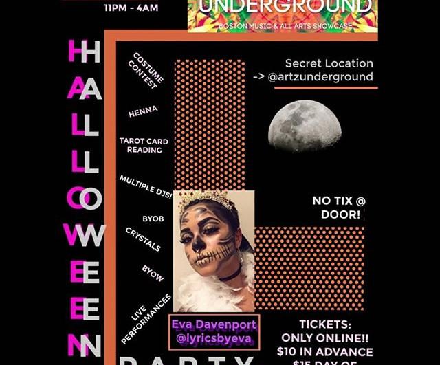 @artzunderground Halloween After Party T