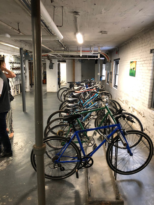 Bike room in basement