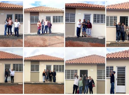 Entregues 101 residências, que compuseram o primeiro módulo do Jardim do Parque em Leme/SP.