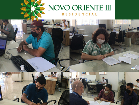 ASSINATURA DOS CONTRATOS DO RESIDENCIAL NOVO ORIENTE III