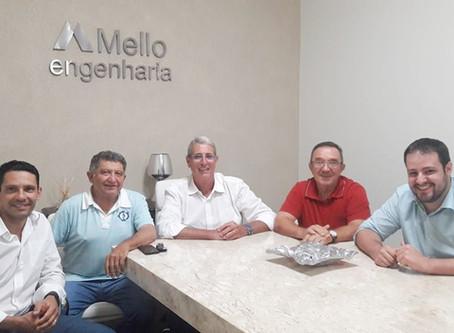 Visitas na sede da Mello Engenharia