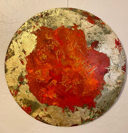 The Universe Series-Gold and Red Thought