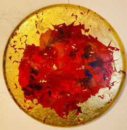 The Universe Series-Red and Gold Vibes