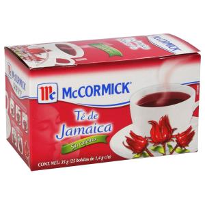 Té de Jamaica Mc Cormick 25 sachets