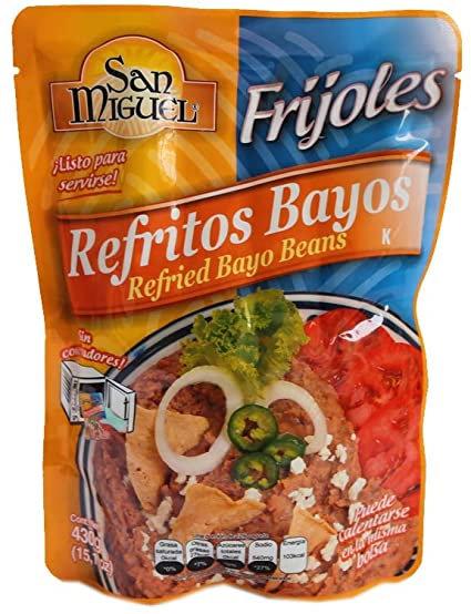 Frijoles Bayos Refritos SanMiguel 430gr