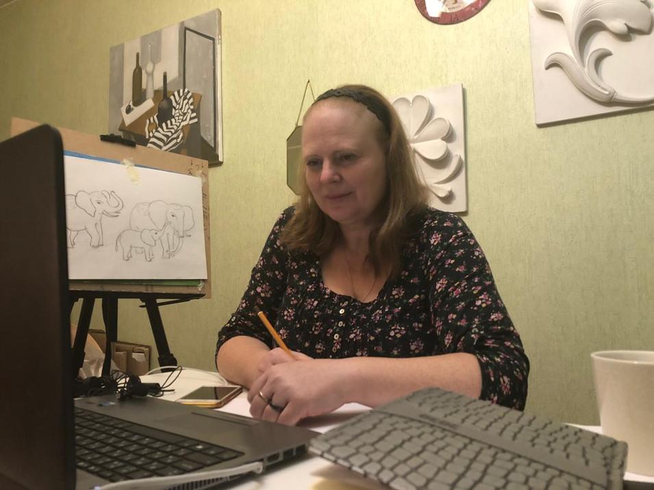 """Онлайн рисование """"Твой цветной мир"""""""