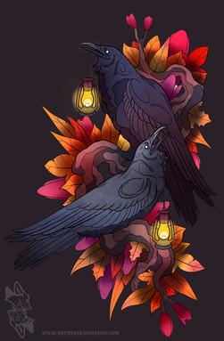 Autumn Raven Tattoo