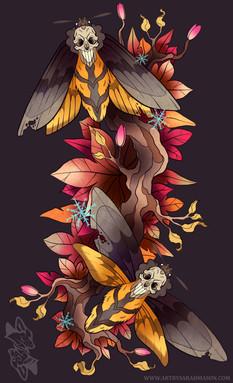 Autumn Death's Head Tattoo