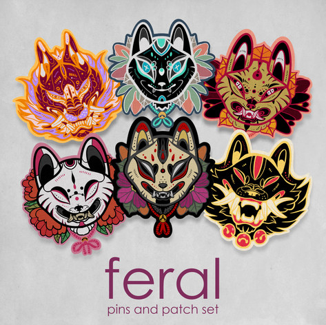 Feral Pins & Patches Mock Up