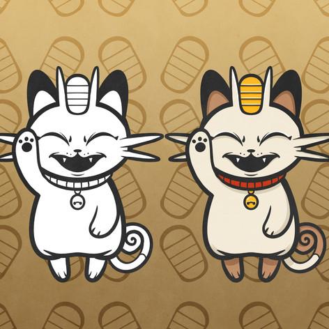 Lucky Meowth Logo