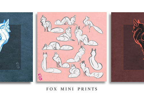 Fox Mini Prints