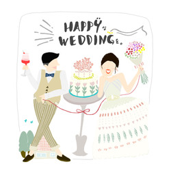 happyなweddingを