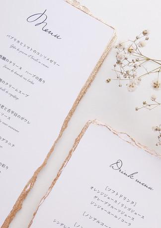 champagne|menu