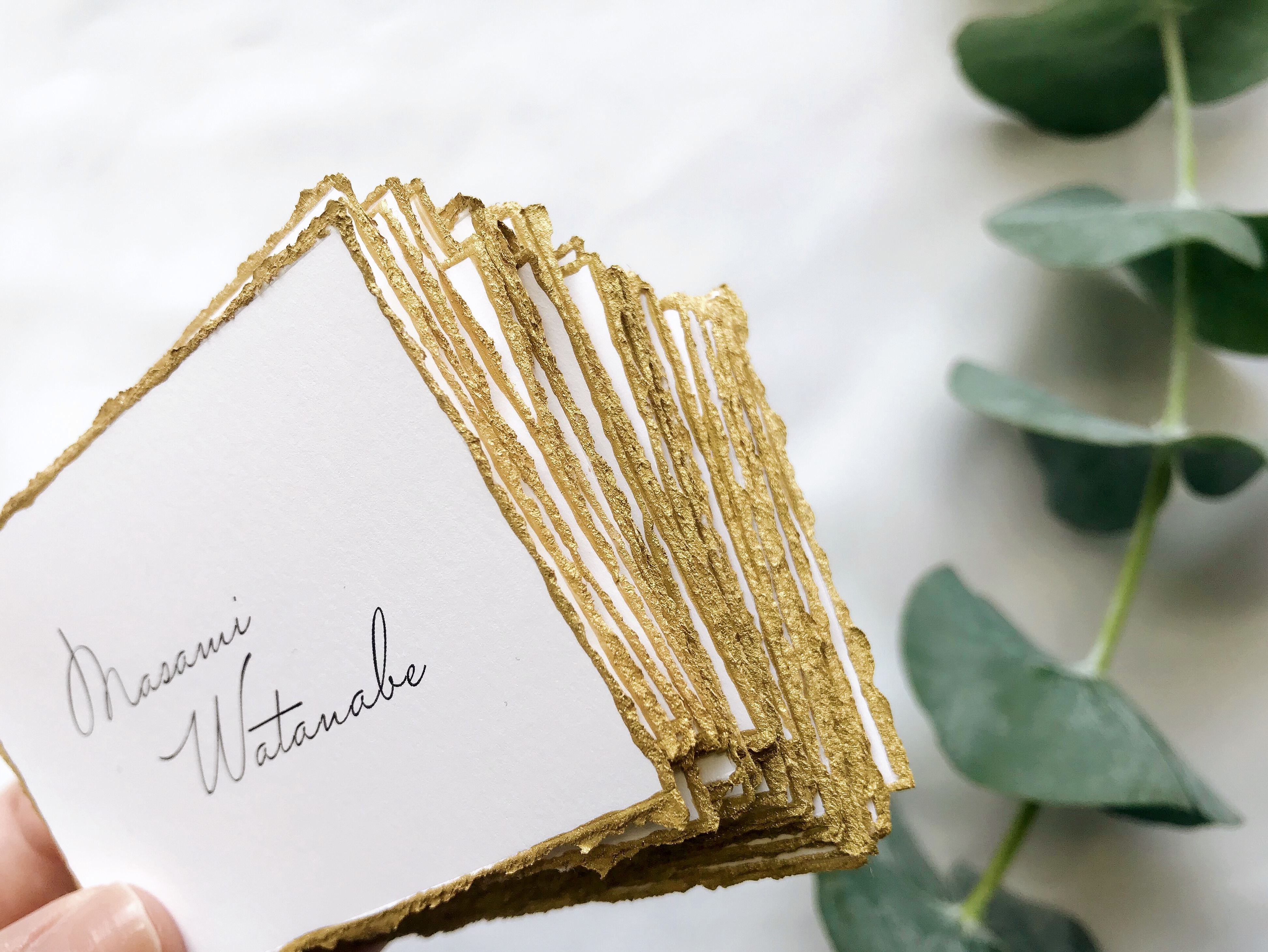 gold name card