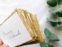 gold name card