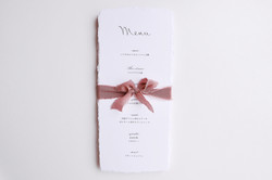 menu paper with deckle edge