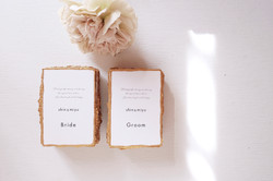 gold namecard paper with deckle edge