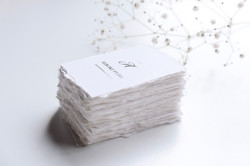 escort card paper with deckle edge