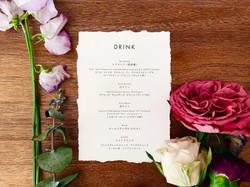edge paper wedding menu